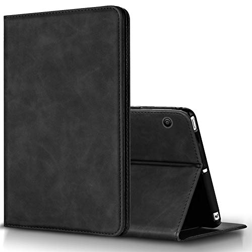 BLUEENZA Huawei MediaPad T3 10 Case Cover Wallet Slim Cover Leather Case Book Heavy-Duty 360 Protection Shockproof Safe Folio Suede PU [Stand Feature] [3 Card Slot][Photo ID] Black