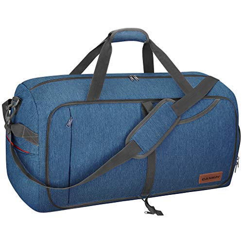 Canway 115L Travel Duffel Bag, Foldable Weekender Bag with Shoes Compartment for Men Women Water-proof & Tear Resistant