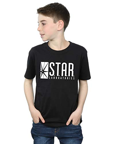 DC Comics niños The Flash Star Labs Camiseta 12-13 years Negro