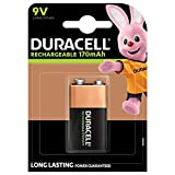 Duracell Recharge Ultra 9V Block Akku Batterien 6LR61 170 mAh