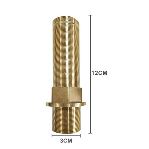 Faucet Fittings Nipple Locknut Kit Extension Threaded Pipe Longer Mounting Shank Single Hole 4.7inch