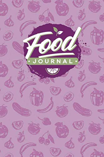 Food Journal: Diet Diary for Tracking Your Daily Food Intake (Pink Retro Theme)