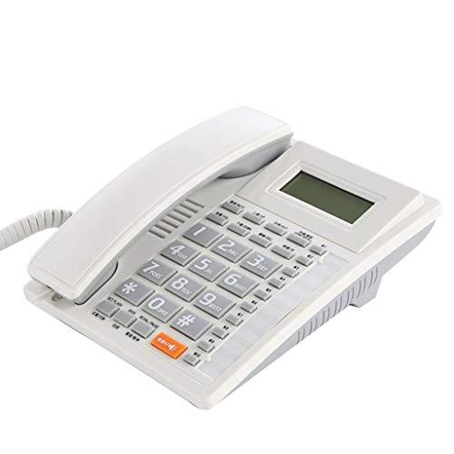 Sywlwxkq Teléfono 10 Juegos de Memoria Línea Fija Fija, teléfono de identificación de Llamadas, Llamadas Manos Libres, extensión de Transferencia de un Toque R, Almacenamiento de Gran capac
