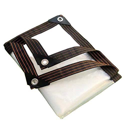 WZDD Lona Impermeable Transparente 3x4m, Lona De Proteccion PVC, Toldo Impermeable Exterior Grande, para Uso Al Aire Libre - Múltiples Tamaños