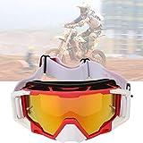 DAUERHAFT Gafas deportivas Gafas de esquí con correa ajustable ajustable para la cabeza, para deportes(Red and white)