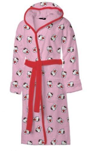 FRIP - Hello Kitty Bademantel im Geschenkset (schöner Geschenkkarton) Gr. 140/152 (ca. 10-12 Jahre)