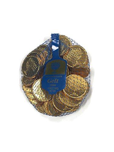 Milk Chocolate Hanukkah Gelt Coins (4.94 Oz.) - Gold