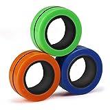 BunMo Fidget Toys - Fidget Rings Fidget Magnets Toy 3pk