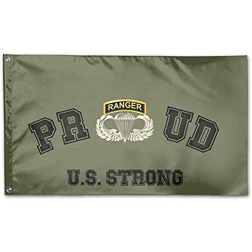 qinzuisp Huis Vlag Airborne Badge Ranger Tab Vlag afdrukken Tuin Vlag 150X90Cm Yard Banner Decorating Klassiek Mooi Ontwerp Welkom Vakantie
