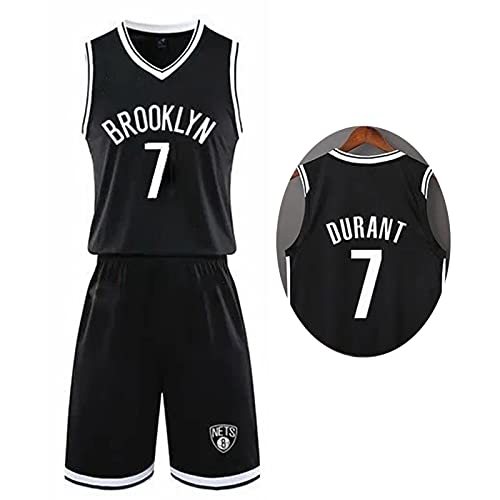BXWA-Sports NBA Basketball Jersey Men Set Uniforme de Entrenamiento, Kids Adult Nets # 7 Kevin Durant Competition Kits Top y Shorts Malla Tejido Transpirable Ropa Deportiva,2XL(Adult)