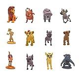 Smileh León Cake Topper Figuras King Lion Figuras Decoración Para Tarta King Lion Mini Figuras Set 12 Piezas