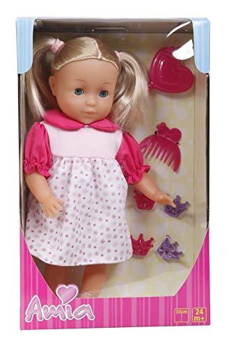 Amia Puppe mit Haar, 33cm, inklusive Zubehör