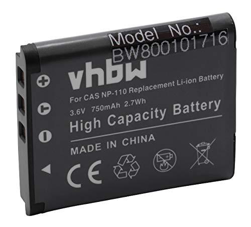 Batteria Li-Ion adatta per CASIO Exilim EX-Z2300 EX-EX-Z 2300 ZR10 ZR 10 sostituisce NP-110 3.7V