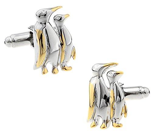 Pinguin Manschettenknöpfe in einer luxuriösen Präsentationsbox, Neuheit Vogel Tierwelt Tier Thema Schmuck