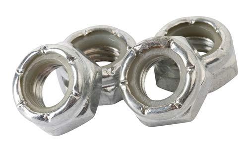 ENUFF Lock Nuts Schrauben, Unisex Erwachsene, Grau (Silber), Einheitsgröße