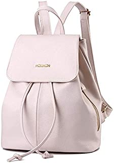 Fashion Backpacks For Women - Leather, Off White