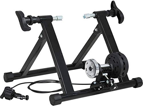 Best Portable Bicycle Trainers Road Bike Trainer Stand, Bike Trainer for Indoor Riding Magnetic Bike Trainer with Noise Reduction Wheel 5 Levels Resistance, Easy to Assemble, Carry and Store, 300LB