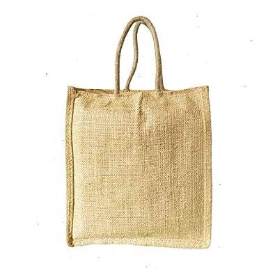 Clapcart Waterproof Jute Bag with Zip Closer Lunch Bags Multipurpose for Office Women & Men | Girls & Boys | Tote Lunch Bag