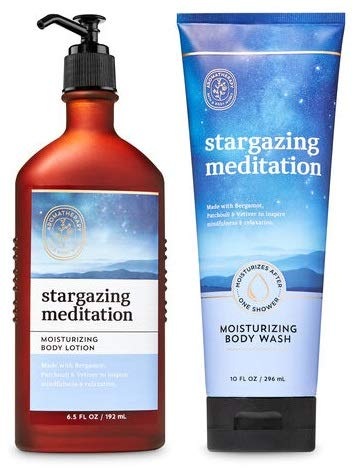 Bath and Body Works Aromatherapy STARGAZING MEDITATION Gift Set - Body Lotion and Moisturizing Body Wash - Bath & Body Set - Full Size