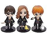 Babioms 6PCS Mini Juego de Figuras Niños, Fiesta de cumpleaños Pastel Decoración Suministros, Decoraciones para el Hoga, Harry Potter Cake Topper