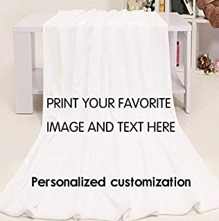 LK's shop Personalized Throw Blanket Custom from Your Photo Fleece Blanket Super Soft for Baby & Adult. Great Wedding Gifts (Standard 50