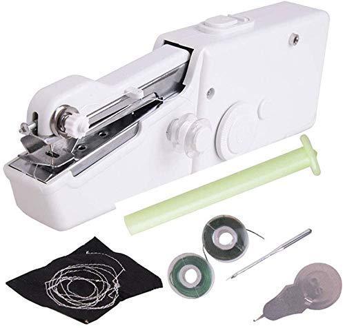 FEE-ZC Machine à Coudre légère Domestique Portable Machine à Coudre électrique Portable Mini vêtements sans Fil à la Maison troutils de Couture de Tissu avel