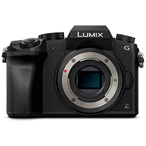 41yqtGazT L - PANASONIC Lumix G7 4K Digital Mirrorless Camera Bundle with Lumix G Vario 14-42mm and 45-150mm Lenses, 16MP, 3-Inch Touch LCD, DMC-G7WK (USA Black)