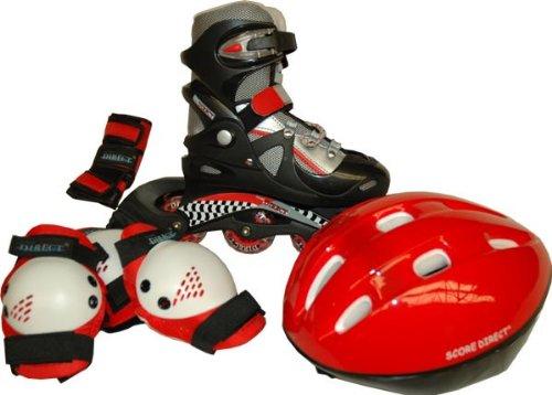 Score Direct - 887-33/37 - Vélo et Véhicule pour Enfants - Kit Roller In Line + Protections - Réglable du 33 au 37