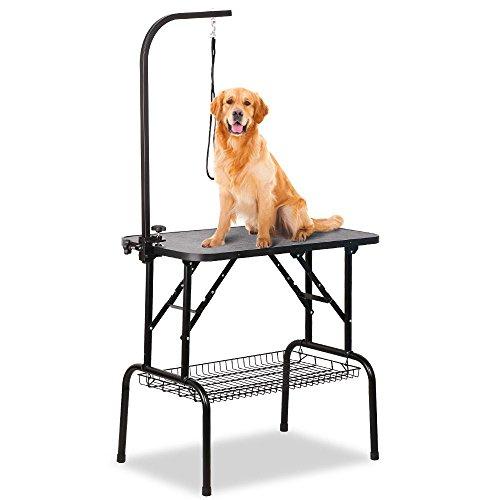 Yaheetech Trimmtisch Tierpflegetisch Schertisch mit Korb Pflegetisch für Hunde klappbar höhenverstellbar