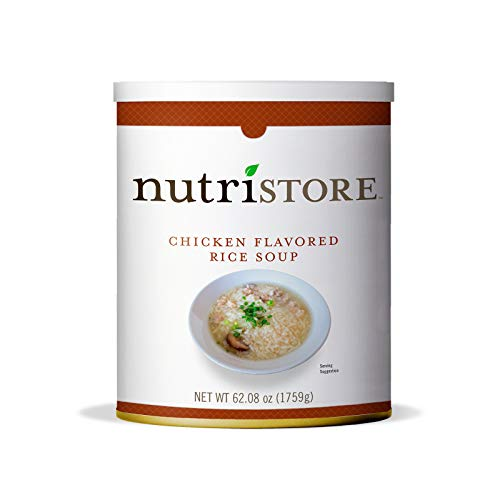 Nutristore Chicken Flavored Rice Soup #10 Can   Premium Freeze-Dried...