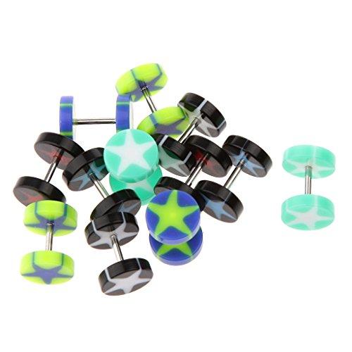 Milageto 12 Piezas 8 Mm Mezcla de Colores Tapones para Los Oídos Ensanchadores Pendientes Expansor Joyería