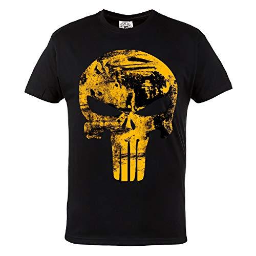 Rule Out T-Shirt. Punisher. Supereroe Palestra. Bodybuilding. Allenamento. Sportswear. Crossfit. Fitness. Marziale Arti. Casual - Nero, L