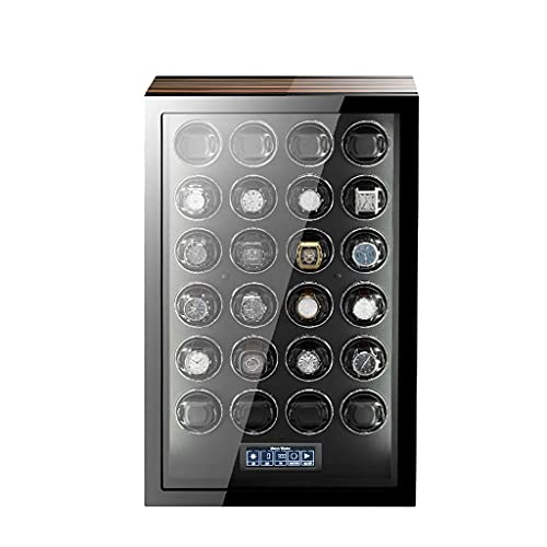 HEZHANG Watch Box Watch Watch Winder Del 24/6/6/9/12/24 Relojes Watch Watch Box con Pantalla de Retroiluminación Azul Lcd Pantalla Táctil Y Control Remoto,24 + 0