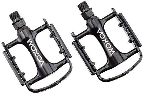 Voxom Trekking PE21de Aluminio Cuerpo, Boron de Eje, cojinete de Deslizamiento, 718000059Pedales, Color Negro, Estándar