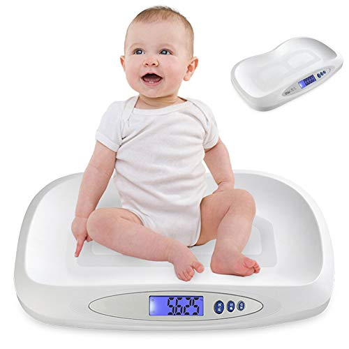 Báscula para Bebés, Smart Weigh Báscula para Bebé Balanza Digital con Grande Retroiluminada LCD