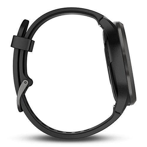 Garmin Vívomove HR - Montre Connectée Hybride Élégante avec Écran Tactile - Noir