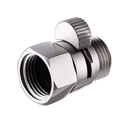 KES Duschkopf Ventil Absperrventil Eckventil Dusche Wasserstopper Shut-Off Ventil Regendusche Duschstop G 1/2 Messing Gebürstet Nickel, K1140B-BN