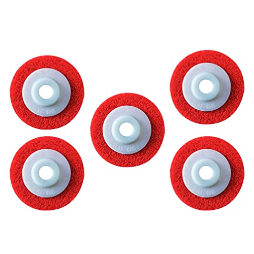 ibasenice Nylon Buffing Wheels Red Flap Polishing Discs Buffing Buffer Grinding Disc Scouring Pad Abrasive Tool for Angle Grinder (5pcs)