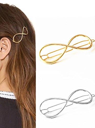 Cuhair 2pcs punk design en cristal de métal pour femmes clip de cheveux pour filles Clip de barrettes accessoires pour griffes