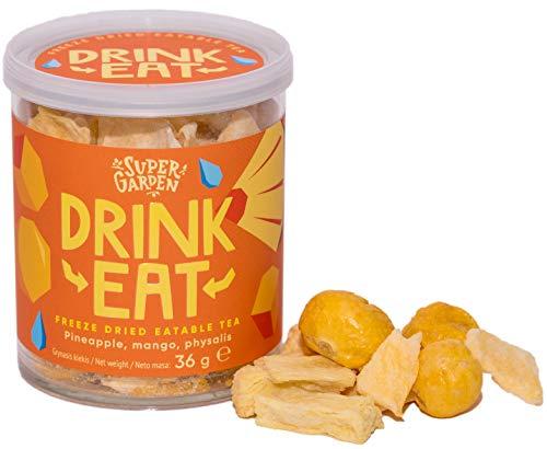 Supergarden DRINKEAT - Essbarer Tee Aus Gefriergetrockneten Beeren Und Früchten - 100% Natürlich - Vegan - Ohne Zusatzstoffe Und Konservierungsmittel - Glutenfrei (Orange)