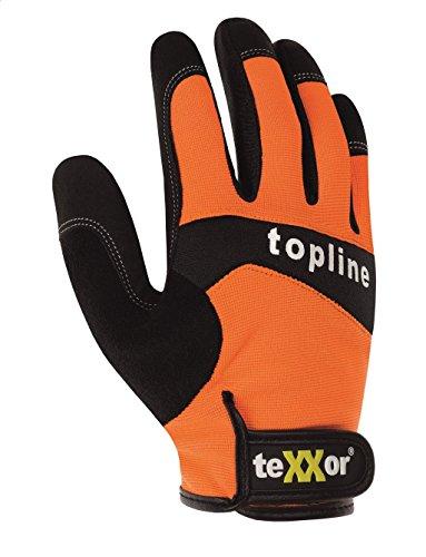 teXXor Handschuhe Kunstlederhandschuhe IRVINE orange/schwarz/grau 9