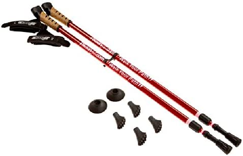 Keenfit RED 2-Piece Fitness New sales quality assurance Poles Walking Exercise Assisting