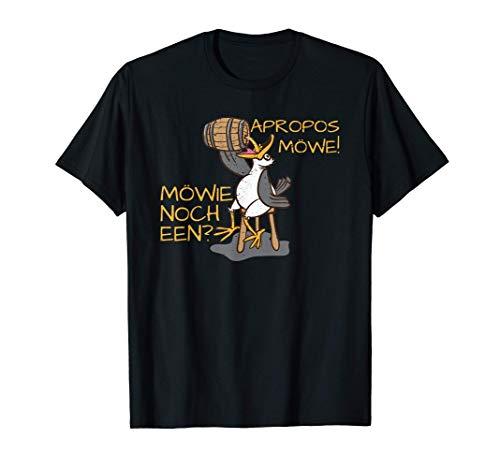Norddeutsche Plattdeutsch & Bier oder Schnaps Apropos Möwe T-Shirt