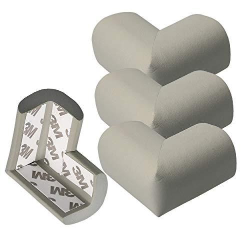 Mumbi, hoekbescherming, hoekbescherming voor peuters, grijs, met plakfolie, hoekig