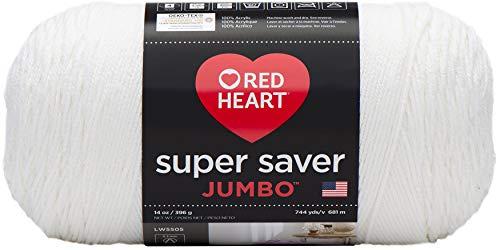 Red Heart Super Saver Jumbo Yarn, White