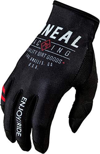 O'NEAL | Guanto Bike Motocross | MX MTB DH FR Downhill Freeride | Durevole, materiali flessibili, ventilato Nano-Front Palm | Mayhem Glove Dirt | Adulto | Nero Bianco | Taglia L