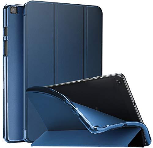 ProCase Funda Blanda para Galaxy Tab A 8.0 2019 T290 T295, Carcasa Suave con Reverso Translúcido/Tapa Inteligente, Funda TPU Flexible para Galaxy Tab A 8 Pulgadas 2019 SM-T290/T295 -Azul Marino