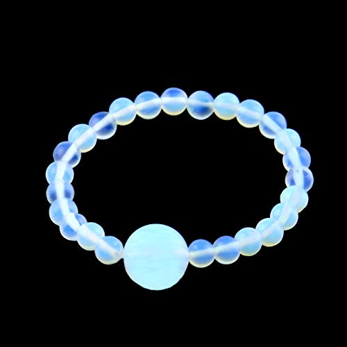 Anti Nausea Wristband, Relief for Motion Sickness and Morning Sickness, Acupressure Wristband, Push Bead Into Wrist, Seasickness, Car Sickness, Helps Vertigo, Relieves Dizziness (Moonstone)