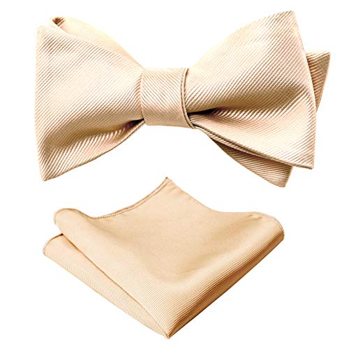 Dark Green Alizeal Mens Adjustable Length Self Tied Bow Ties with Pocket Square Set