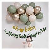 Kit Guirnalda Globos 19pcs / Set Garland Retro Bean Globe Set Baby Shower Boda Cumpleaños Fiesta Decoraciones (Color : Set 1)